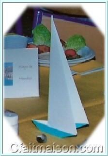 D coration de salle et de tables sur le th me de la mer la plage les poissons les bateaux - Pliage serviette theme mer ...
